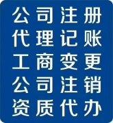 新郑龙湖免费注册公司,代理记账
